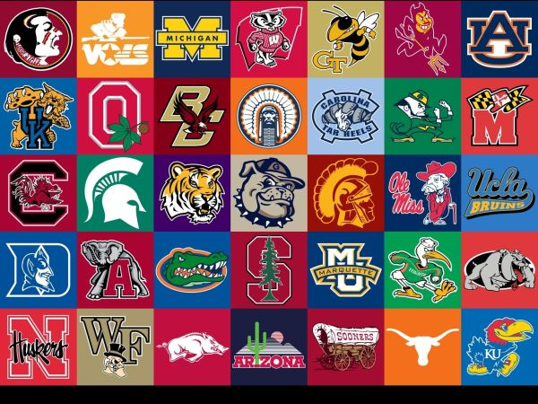 College Logos on Pinterest College football Education