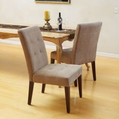 Cream Upholstered Dining Chairs Leather Swivel Club Chair Set Of 2 Elegant Tufted Design Linen