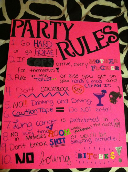 Party Rules Katie Schmeltzer Oliver And Add