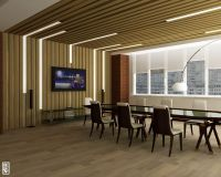 Elegant Office Conference Room Design With Wooden Floor ...