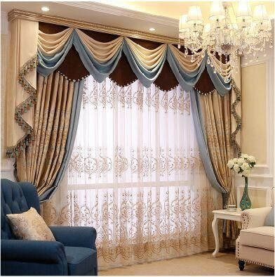 Iraq Mantle Nepalese Relief Simple European Curtains Living Room