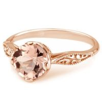 Peach Pink Morganite 14k Rose Gold Vintage Solitaire ...
