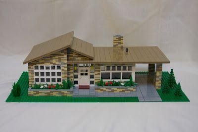 Lego House Legos 4 My Boys Pinterest Mid Century House