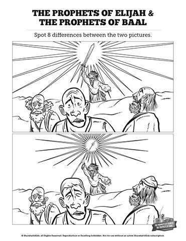 Elijah The Prophet 1 Kings 18 Kids Spot The Difference