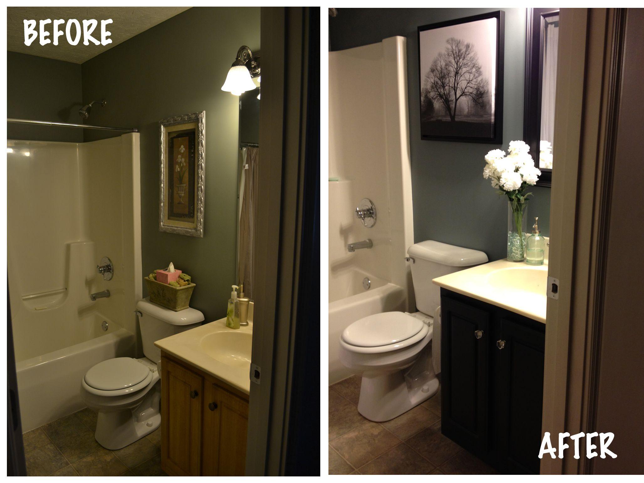 Small bathroom redo  bathroom  Pinterest  Stylists
