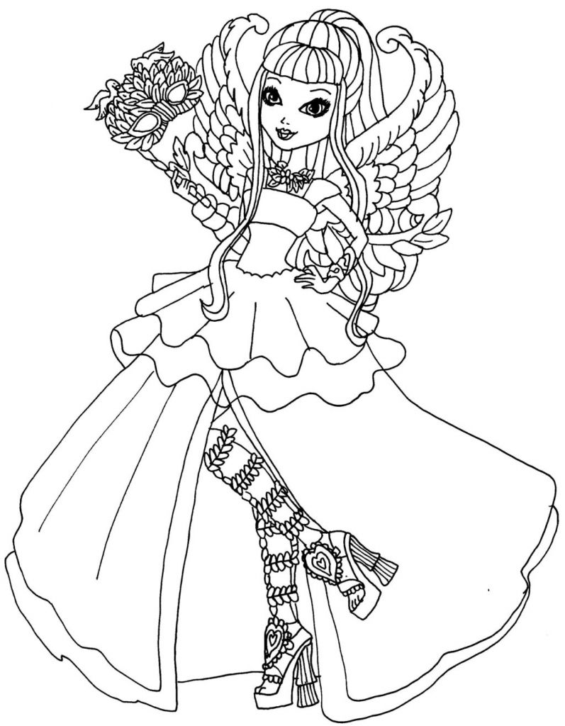 Ever After High Girl Coloring Pages By Elfkena On