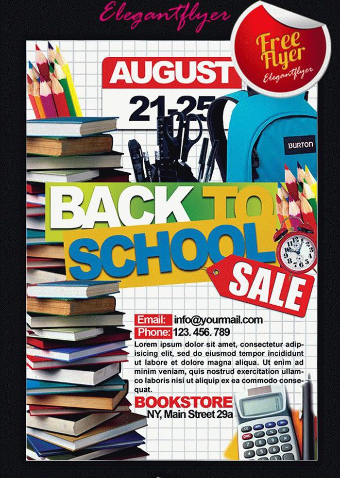 16 Free Back To School Flyer PSD Templates DesignYep