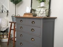 Charcoal Gray Dresser with a Sweet Little Note | General ...