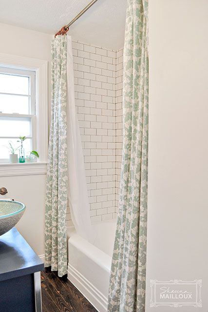 Double Shower Curtain Love The Subway Tile With Grey Grout The