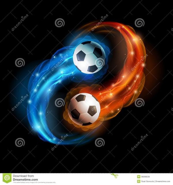 Soccer Flames Balls In And Lights