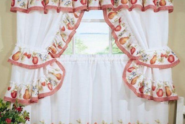 Fruit Kitchen Curtains Interesting Decorating Design