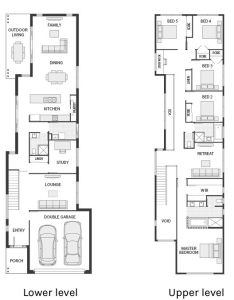 Narrow but large storey home with bedrooms plus  study and living also best house plans images on pinterest rh