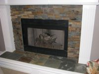 Slate Tile Fireplace Surround Catchy Photography Patio Or