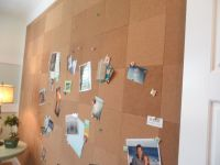 Cork board wall; I need to do this for our office cave ...