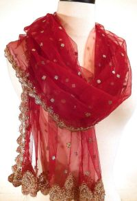 RED AND GOLD SHAWLS | Red Shawl, Formal Wrap, Beaded Wrap ...