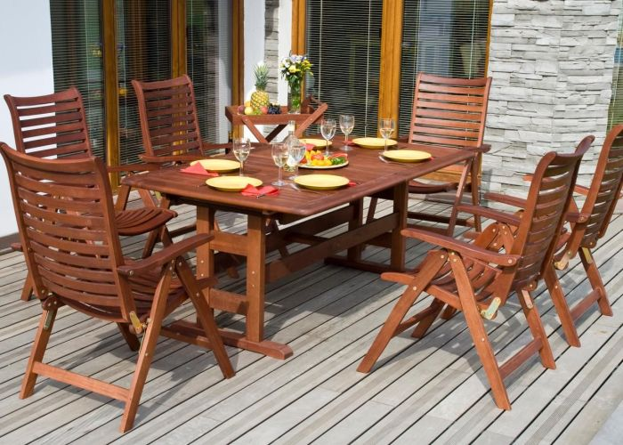 Teak patio furniture sets also pinterest
