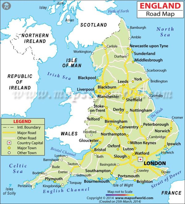 England Road Map Maps Pinterest England Maps and