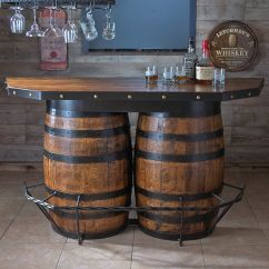Whiskey Barrel Pub Table And Chairs Folding Chair Set Tennessee Bar Barrels Men Cave