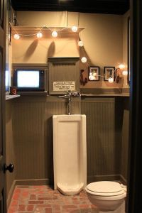man cave bathroom. gotta have the urinal! | cool man caves ...