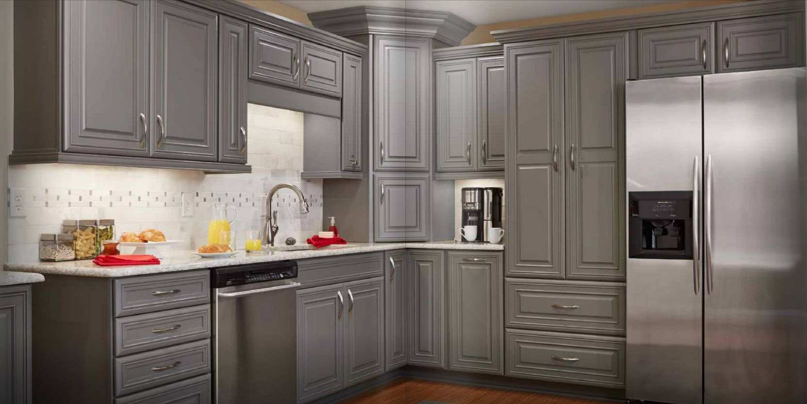 gray kitchen cabinets sink installation grey stained google search logan blvd