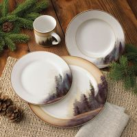 Rustic Wildlife Dinnerware Sets with Moose & Bear Designs ...