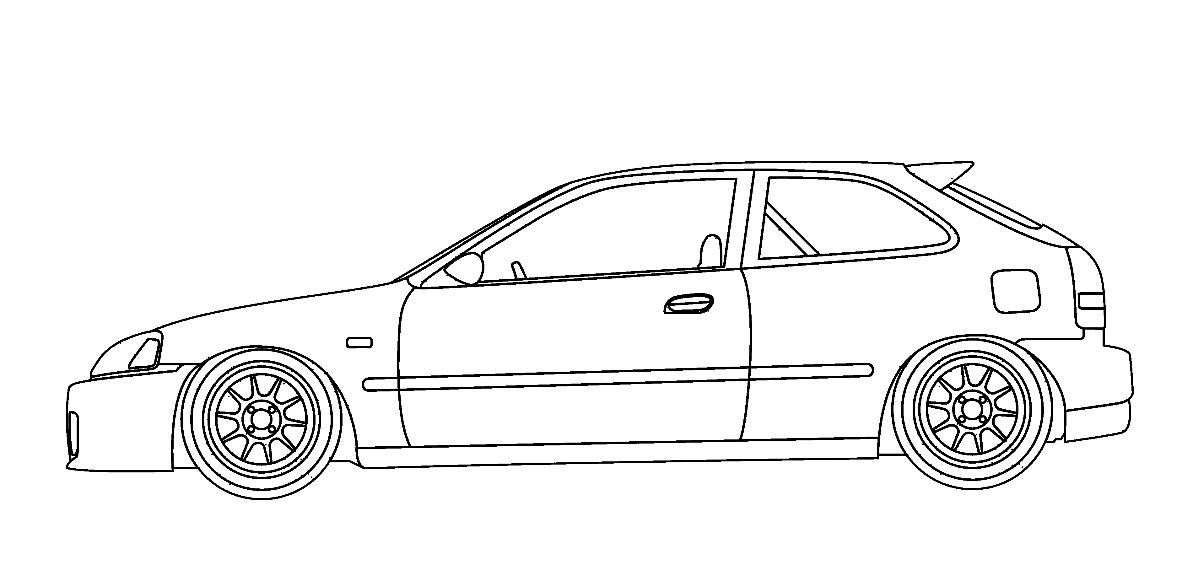 Jdm Honda Civic Drawing