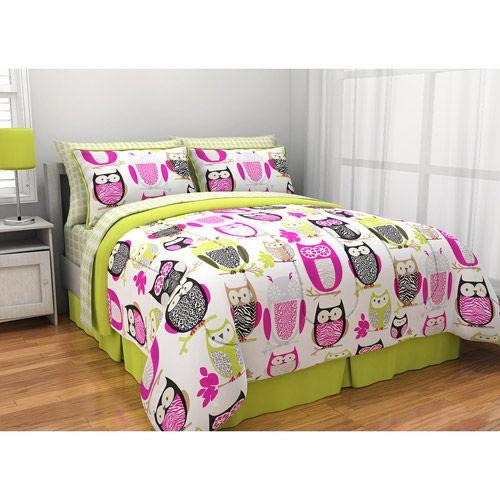 Get the Sketchy Owl Bed in a Bag Bedding Set at Walmart