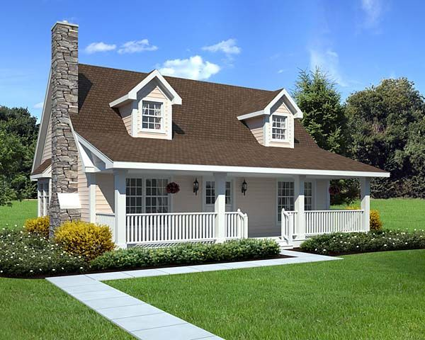 Cape Cod Cottage Country House Plan 34601