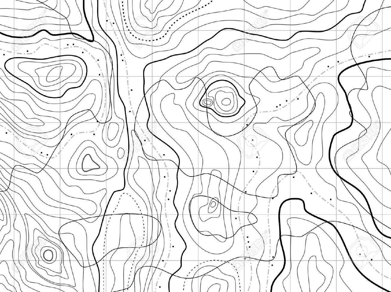 Topographic Map Mountain