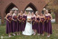 purple and orange Wedding Cake Photos | Bridesmaids in ...