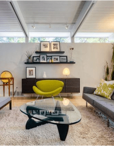 Photo gallery of midcentury modern living room find ideas and inspiration for to add your own home also  mid century might have partial walls or cabinets rh za pinterest