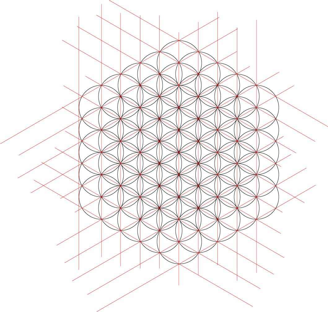 Flower Of Life Isometric Grid