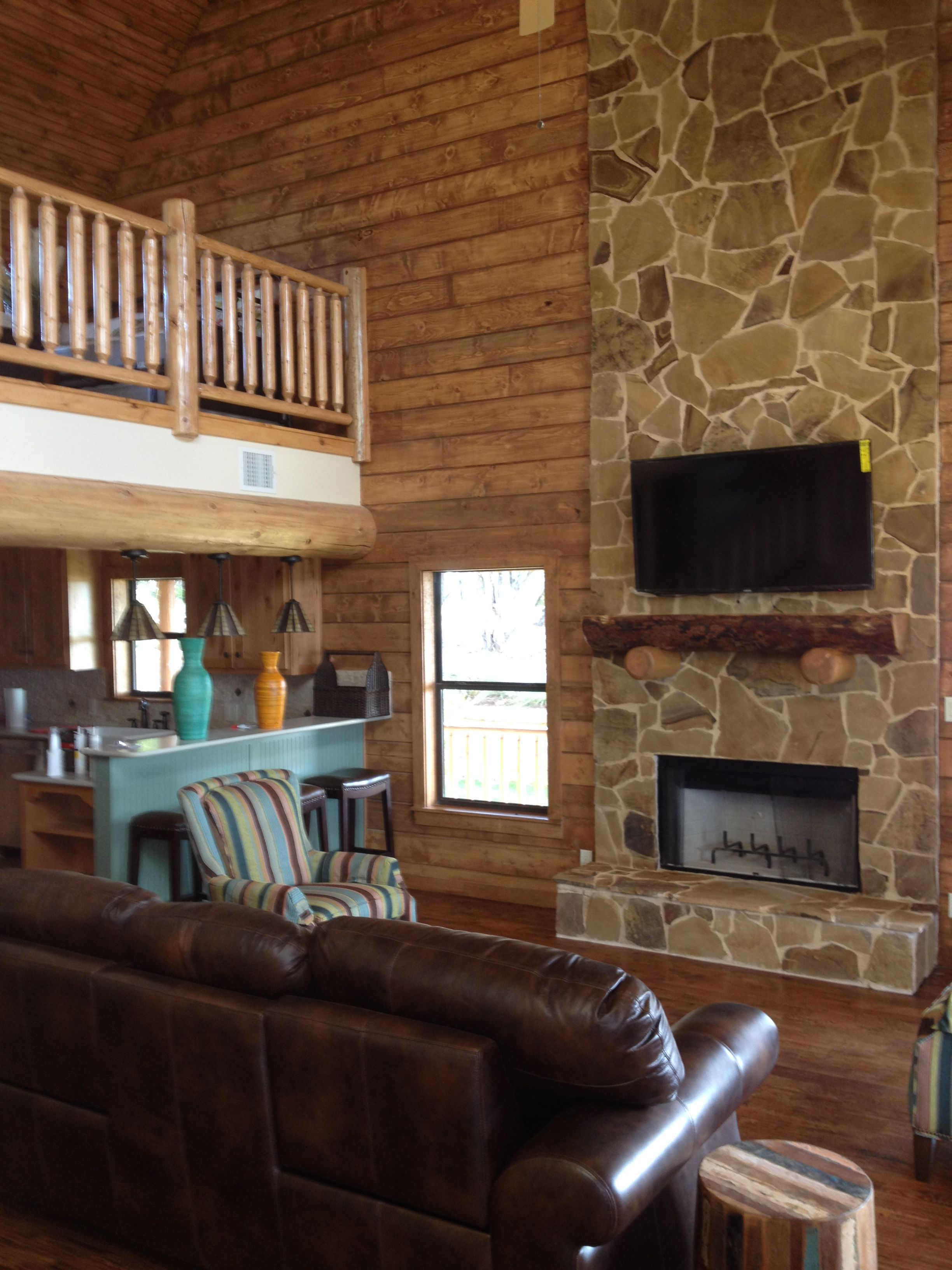 Interiors Were A Mix Of Traditional Drywall Exposed Lodge