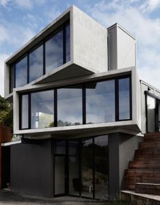 Concrete timber boxes house also box houses and architecture rh pinterest