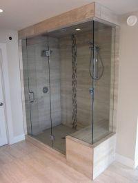 Shower glass door, tile | Cheryl | Pinterest | Frameless ...