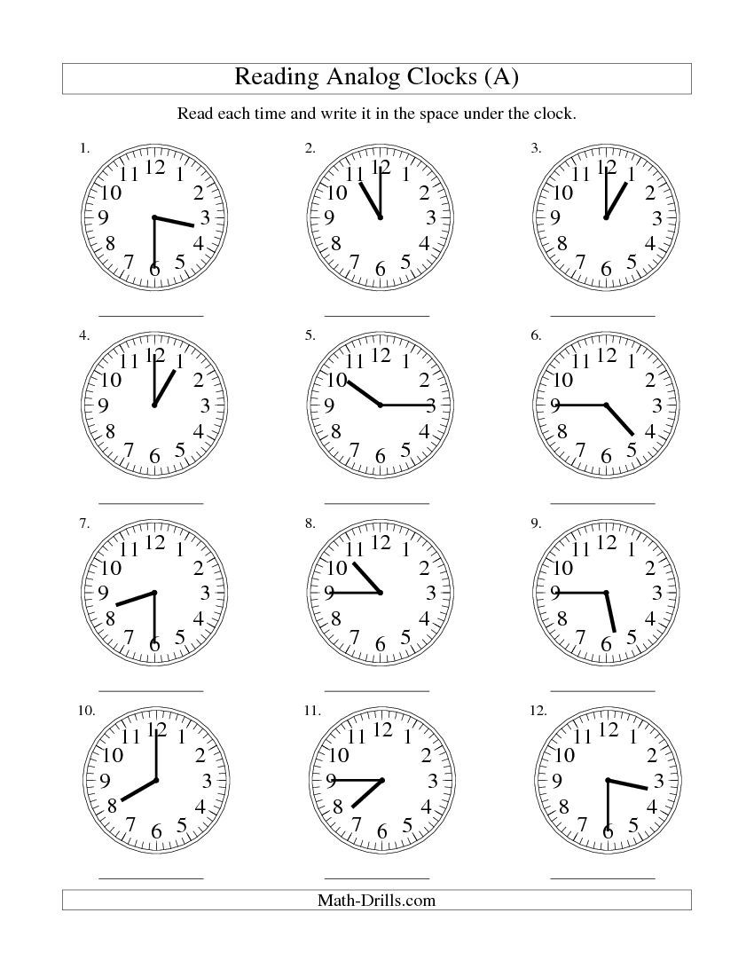 Clock W Ksheets Re D G Time N N Log Clock 15 M Ute