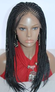 braided lace front wig cornrow
