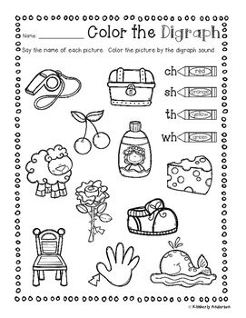 Digraphs Sorting Cards and Activity Sheets ( ch- / sh