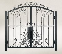 Iron Pipe Wrought Iron Gate Design Photo, Detailed about ...