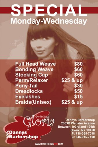 A Flyer For A Local Hair Stylist REDesign Qreative