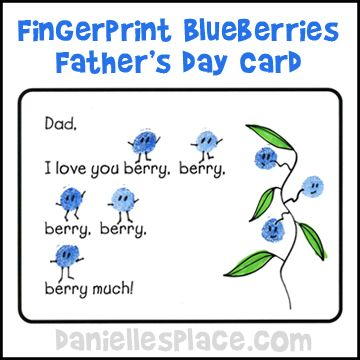 "Father's Day Craft For Kids ""I Love You Berry Much"" Card"