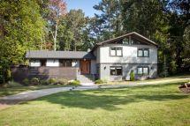 Mid Century Modern Split Level Home Exterior