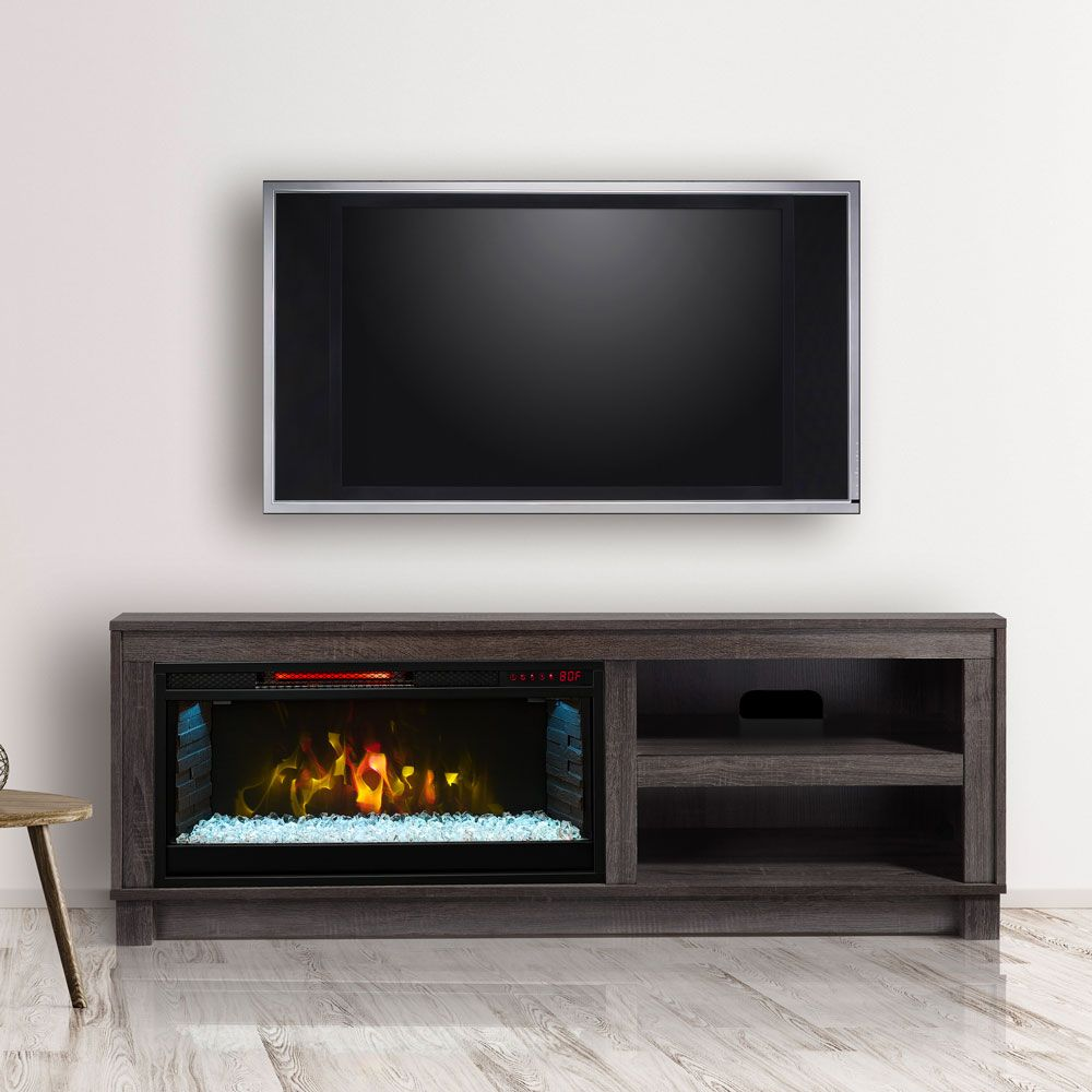 Cameron Electric Fireplace TV Stand in Grey  CS28MM1030