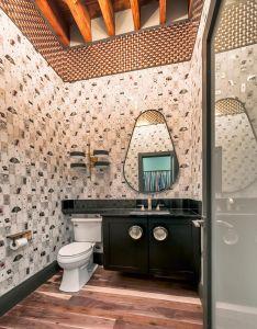 Bathroom bathroomremodel homedesign homedecor interiordesign wallpaper wallcovering loft also rh pinterest