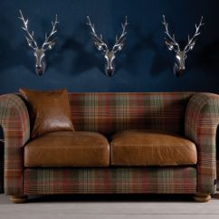 Mixing Leather Sofa Fabric Chairs Modern Futon Bed The Grandad And Highland Wool Is Covered In