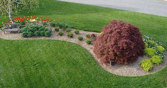 River Rock Flower Beds Gardening Pinterest Landscaping Ideas