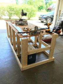 Built Mobile Workbench Woodworking