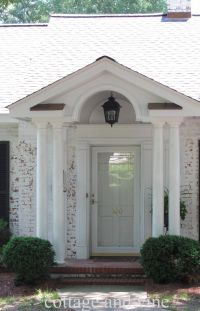 Interior, : Fetching Front Porch Portico Design Ideas With ...