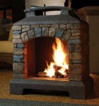 diy outdoor fireplaces wood burning   Wood burning or ...