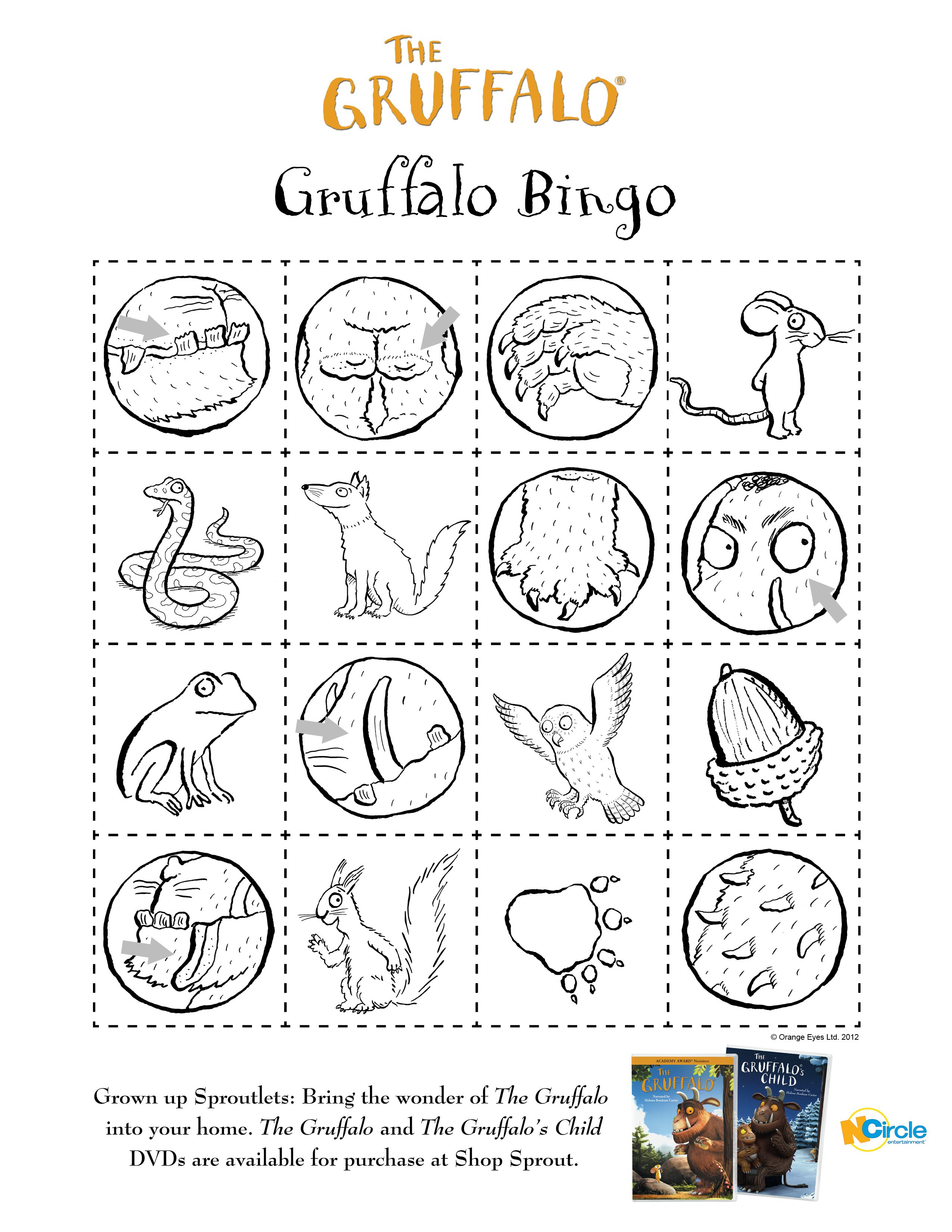 Gruffalo_bingo.jpg (2550×3300); inspiration for gruffalo
